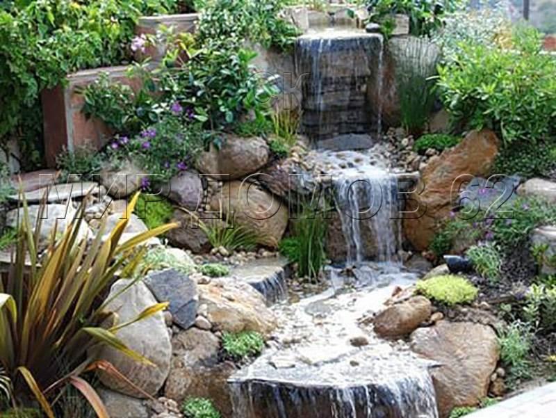 Водопад на даче своими руками пошаговое фото