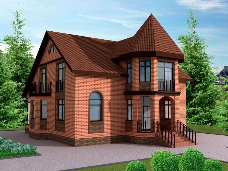 фото красивые дома из красного кирпича